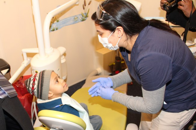 Providing services aboard the Dental Van